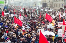 """Митинг-шествие """"за честные выборы"""" в Москве."""